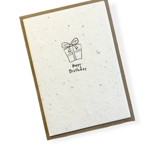 Seed Paper Birthday Cards - Single
