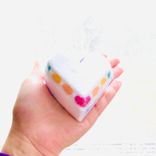 Rainbow Heart Bath Bombs