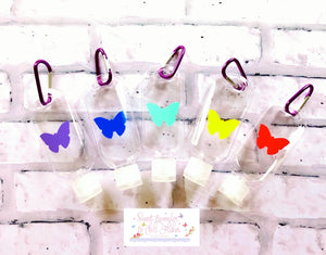Butterfly Hand Sanitiser Bottle Keyring - 50ml