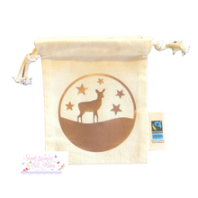Load image into Gallery viewer, Holidays Designs Organic Tie String Mini Bag * Mini Drawstring Sacks