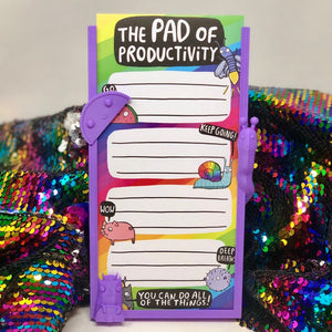 The Pad of Productivity - Pad Holder - To Do List - Rainbow pad - Motivation Notepad - Notebook - Katie Abey