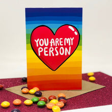 Load image into Gallery viewer, Katie Abey - You Are My Person A6 Card - Love Card
