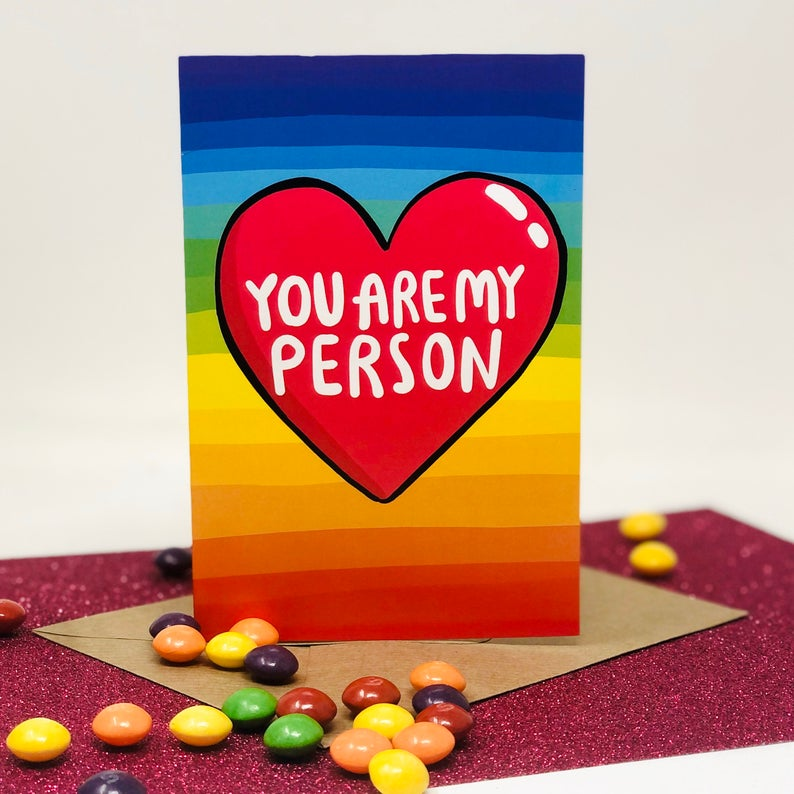 Katie Abey - You Are My Person A6 Card - Love Card