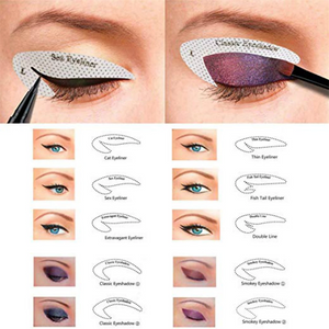 Eyeliner and Eye Shadow Non-Woven Mold Stickers, 64 Pairs!