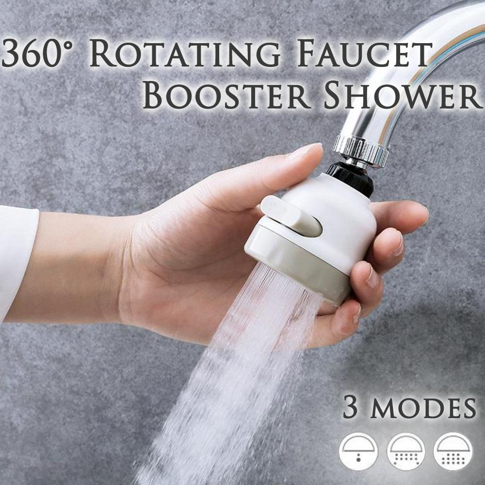 360 Degree Rotating Faucet Booster Shower