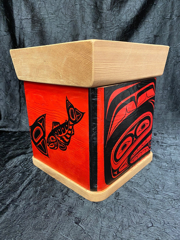 Red Bentwood Box - Salmon by Ken Decker