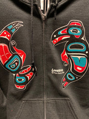 Lovebirds Zip-Up Hoodie