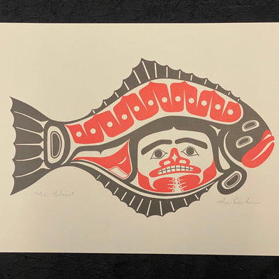 Unframed Mr. Halibut Lithograph Print by Ken Decker