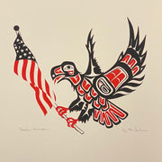 Unframed Freedom Warrior Silk Screen Print by Ken Decker