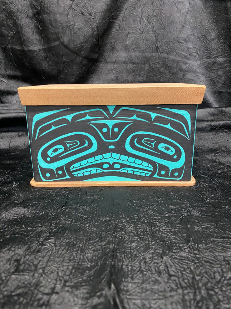 Teal Bentwood Chest by Ken Decker