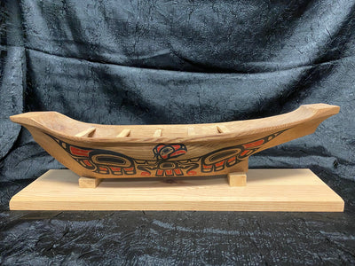 Eagle & Raven Canoe by Ken Decker