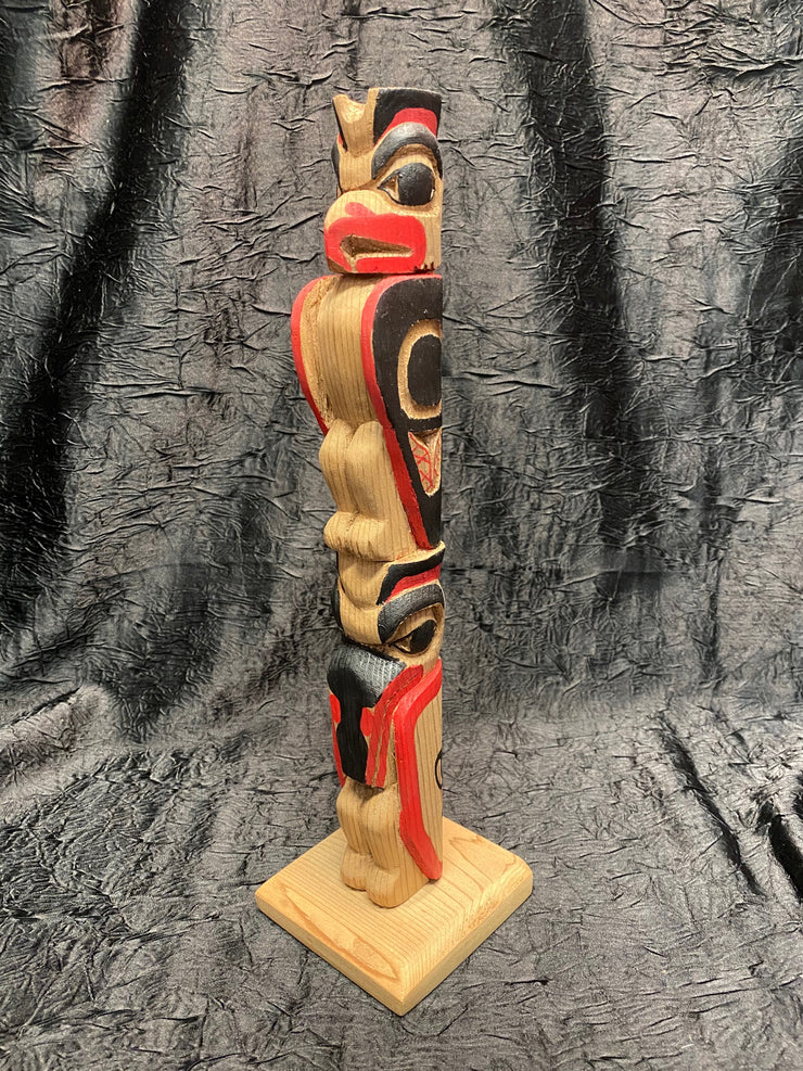 Lovebirds Totem Pole by Michael Vandal