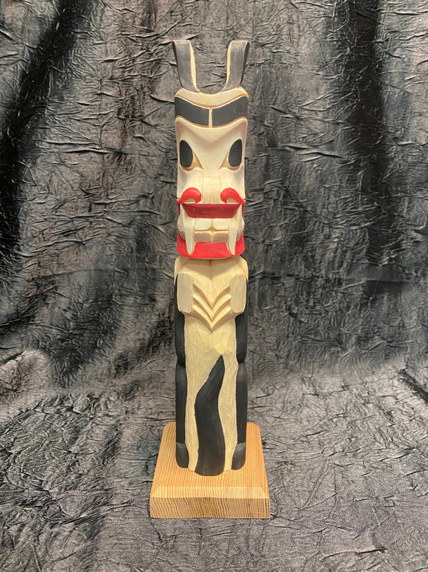 Wolf Totem Pole by Norman Natkong Jr.