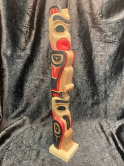Lovebirds Totem Pole by Norman Natkong Jr.