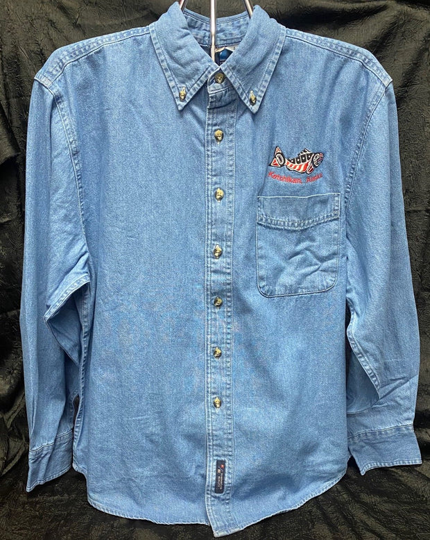 Long Sleeve Denim Button Up Shirt
