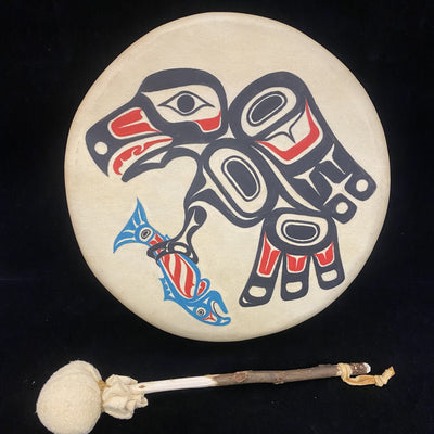 "8"" Eagle with Salmon Drum"