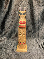 Bear Frog Totem Pole by Norman Natkong Jr.