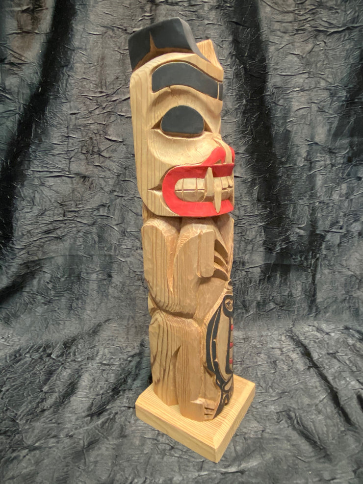 Bear Halibut Totem Pole by Norman Natkong Jr.