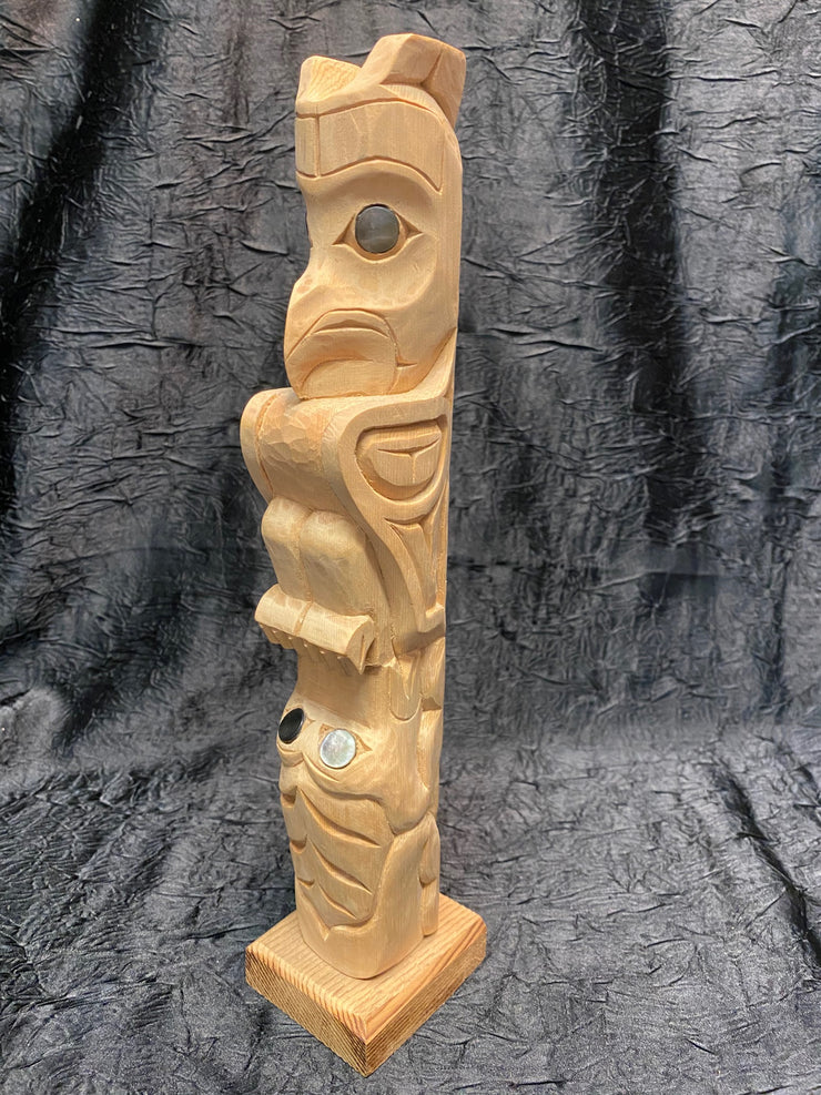 Ealge Frog Totem Pole by Norman Natkong Jr.