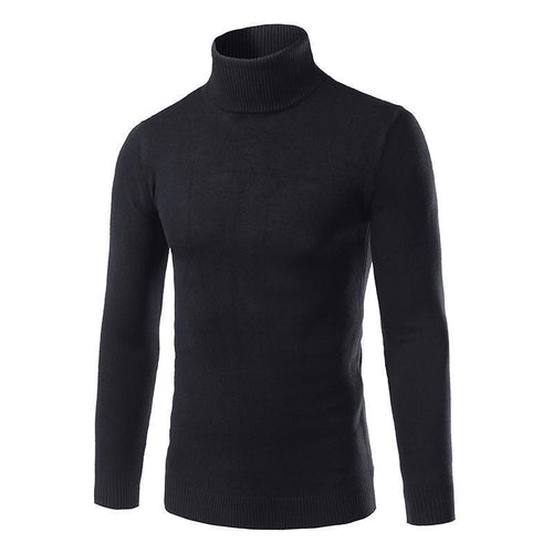 Men's High Neck Pullover Warm Sweater