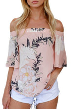 Load image into Gallery viewer, Off Shoulder  Floral Printed  Blouses