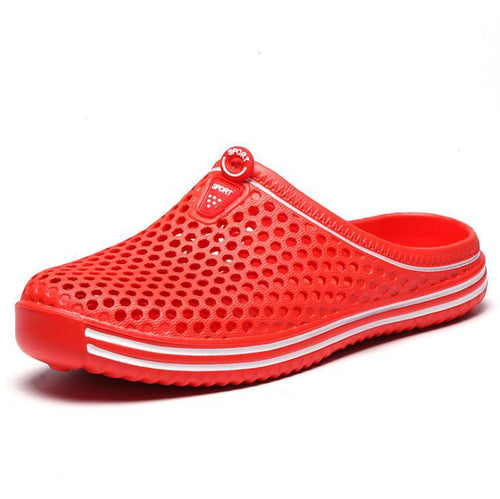 Couple models non-slip hole shoes breathable beach slippers