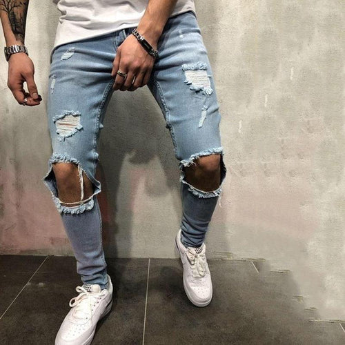 Men's Shredded Stretch Slim Jeans