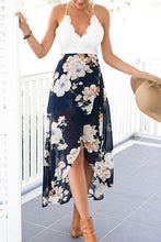 Load image into Gallery viewer, Deep V Neck Curved Hem Sleeveless Maxi Dresses