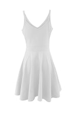 Load image into Gallery viewer, Spaghetti Strap Backless Plain Sleeveless Skater Dresses