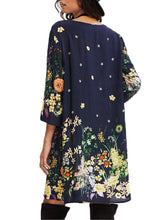 Load image into Gallery viewer, Charming Round Neck Floral Printed Shift Dress