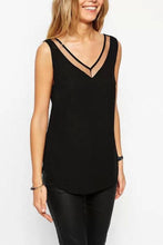Load image into Gallery viewer, V Neck  Asymmetric Hem  Plain Vests