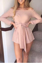 Load image into Gallery viewer, Stylish Off Shoulder Long Sleeves Romper