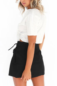 Summer Diagonal Buttons  Plain Skirts