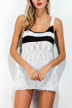 Load image into Gallery viewer, Spaghetti Strap  Back Hole  Stripes Camis