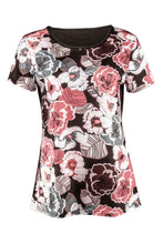 Load image into Gallery viewer, Round Neck  Floral Printed T-Shirts