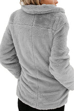Load image into Gallery viewer, Fold Over Collar  Plain Teddy Outerwear