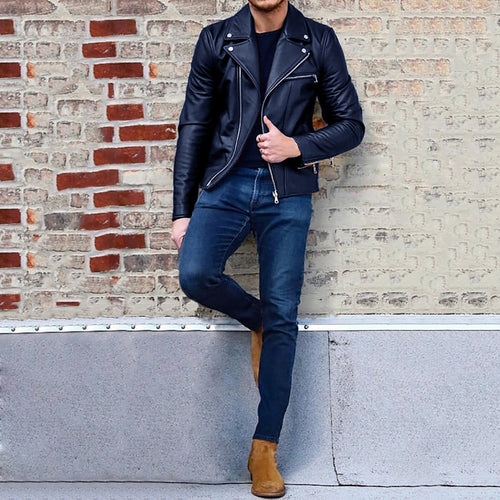 Fashion Long Sleeve Mens Jacket Outerwear