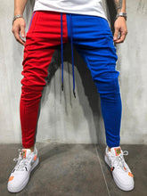Load image into Gallery viewer, Patchwork Slim Sports Jogger Pants