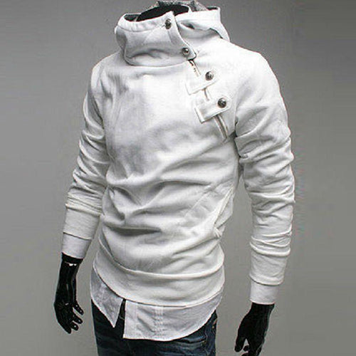 Solid Button Hoodie