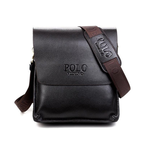 Casual Leather Messenger Bag Vertical Paragraph Polo Paul Men's Shoulder Bag