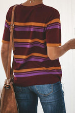Load image into Gallery viewer, Round Neck  Striped T-Shirts