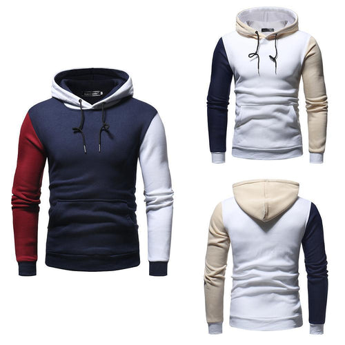 Casual Fashion Color Block Long Sleeves Hoodie