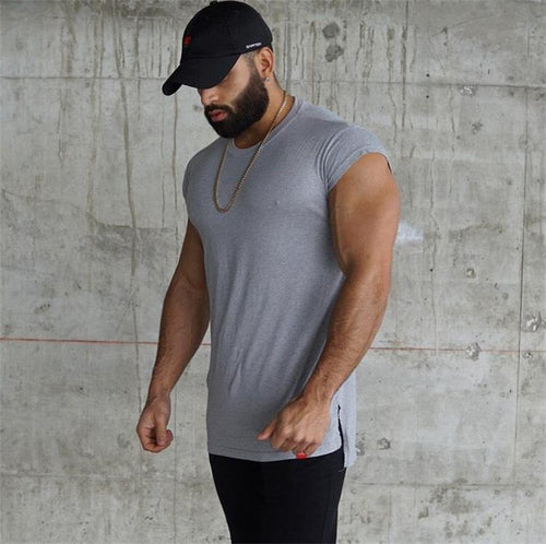 Sports T-Shirt Stretch Fitness   Training Suit Casual T-Shirt