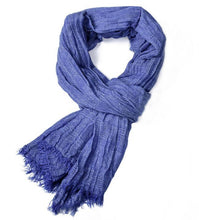 Load image into Gallery viewer, Autumn and winter solid color tassel yarn-dyed men's scarf