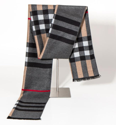 Winter wild silk classic warm plaid scarf