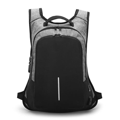 Fashion Men's Backpack Computer bag USB   schoolbag password lock bag