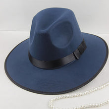Load image into Gallery viewer, Big edge hat, male and female, England hat, jazz wool felt hat