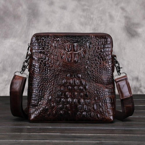casual Fashion Vintage Retro Men's Cowhide   Crossbody Bag Chest pack