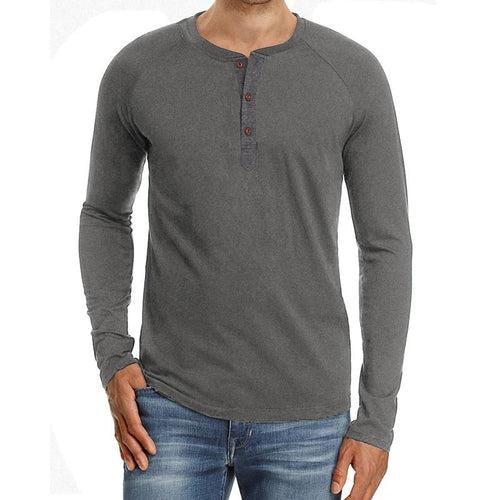 Pure Color Casual Long Sleeve T-Shirt