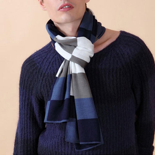 Plaid Warm Collar Thickening Men's Scarf